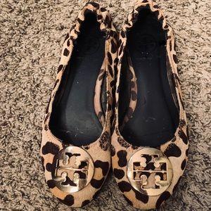 Tory Burch | Brown Leopard Harako Ballerina Flats